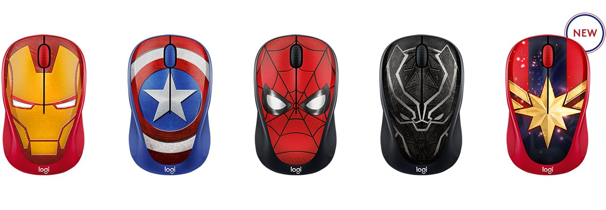 Logitech Wireless Mouse M238 Marvel Collection Captain Marvel
