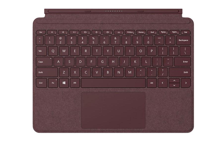 ซื้อ คีย์บอร์ด เซอร์เฟซ Microsoft Tablet Acc Type Cover for Surface GO (KCS-00056) Burgundy แป้นพิมพ์ Surface, คีย์บอร์ด เสริม, คีย์บอร์ด พกพา, คีย์บอร์ดเสริมแท็บเล็ต ราคา, ราคาพิเศษ พร้อมโปรโมชั่นลดราคา ส่งฟรี ส่งเร็ว ทั่วไทย