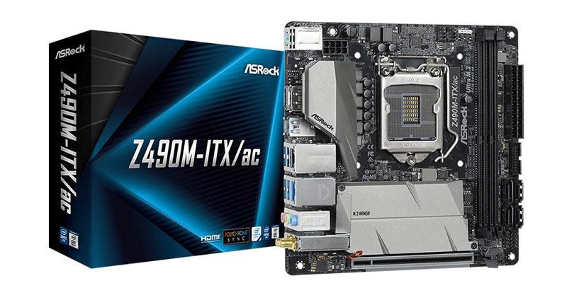 AsRock Mainboard Z490M-ITX/ac LGA 1200
