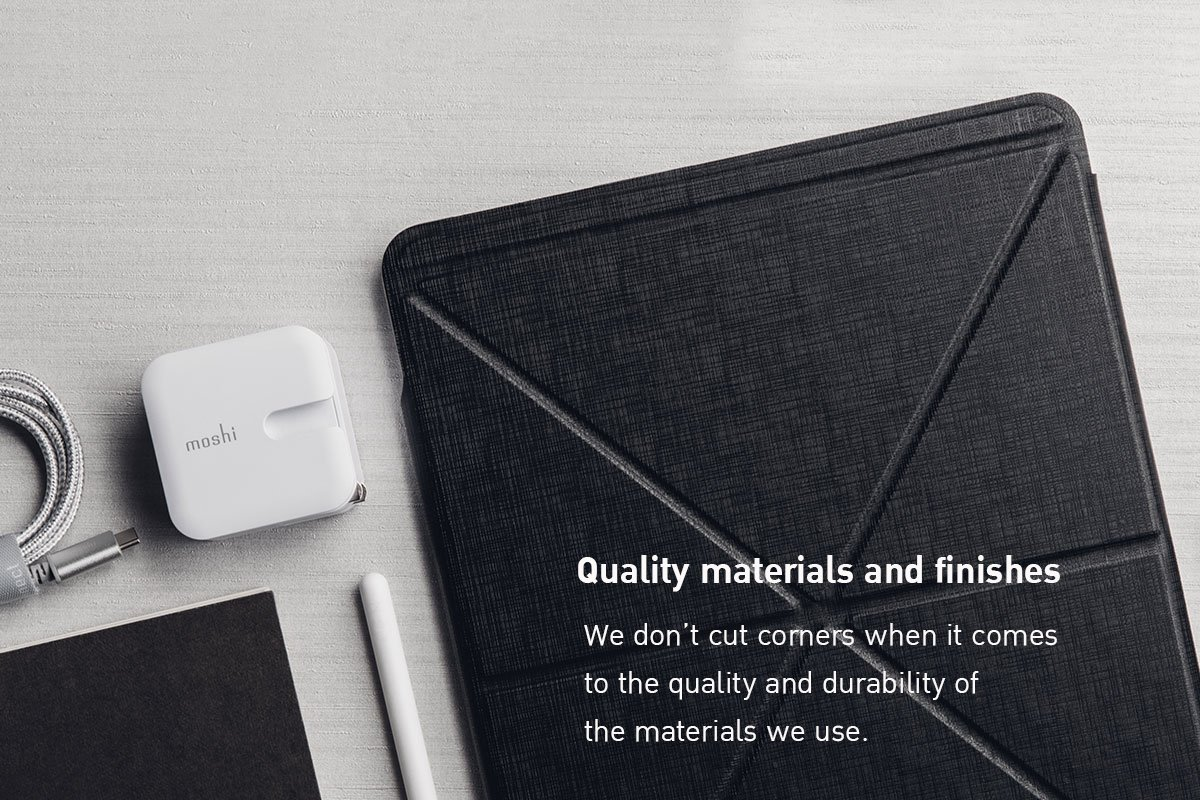 Moshi Casing for iPad Pro 12.9 inch VersaCover with Folding Cover Black