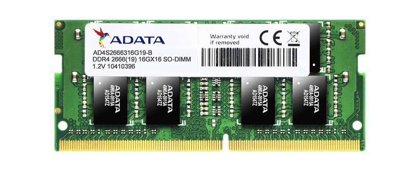 ADATA Ram Notebook DDR4 16GB/2666MHz.CL19 SO-DIMM