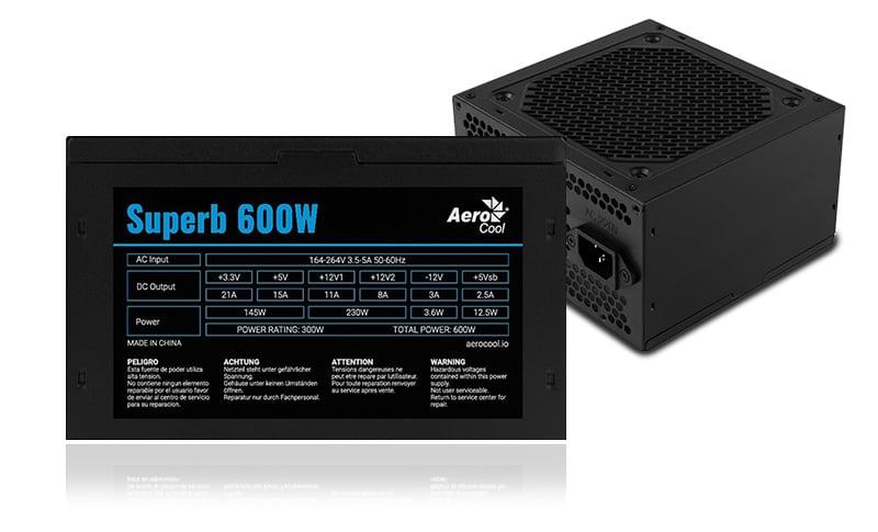 AeroCool Power Supply Superb 600Watt