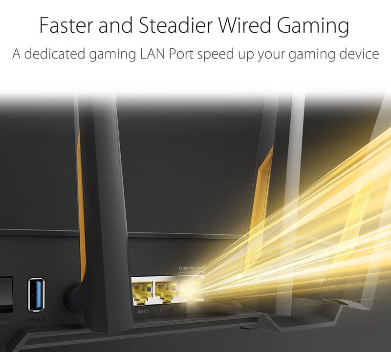 Asus TUF-AX3000 AX3000 Dual Band Wi-Fi 6 (802.11ax) Gaming Router