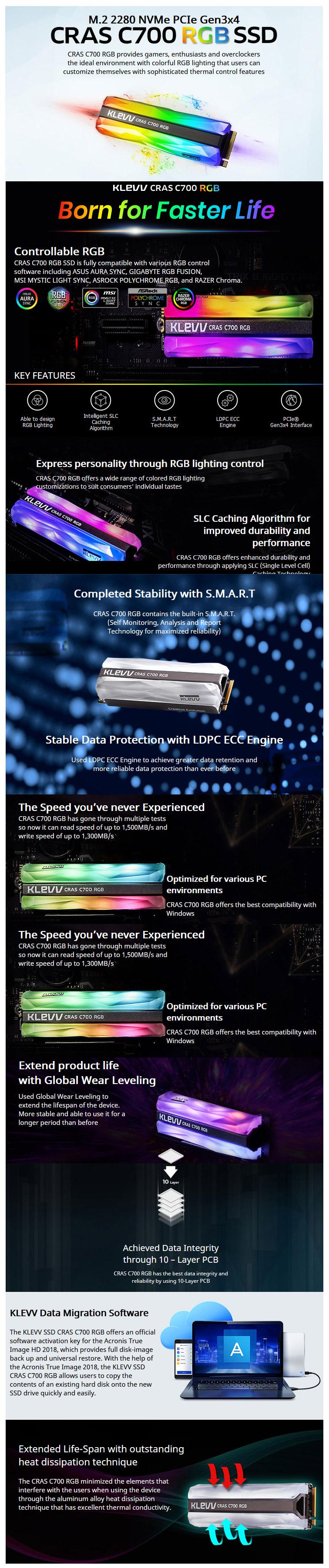 KLEVV SSD CRAS C700 480GB