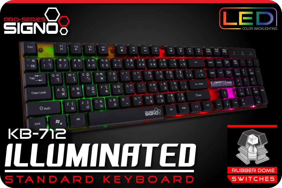 Signo Gaming Keyboard Standard Illuminated KB-712 Black
