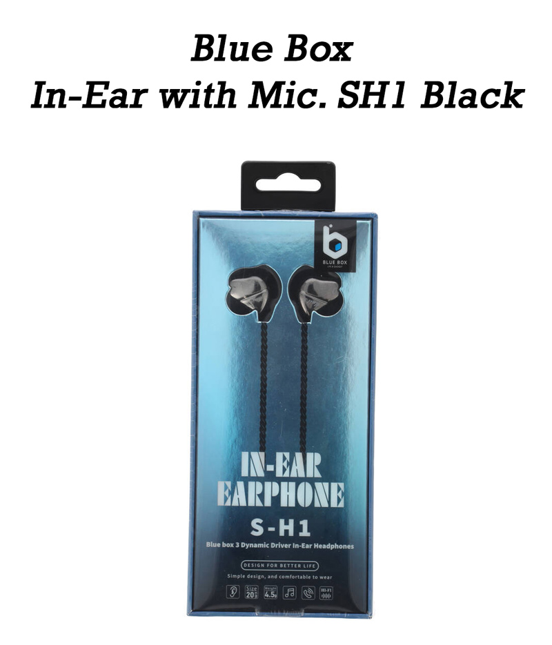 Blue Box In-Ear with Mic. SH1 Black
