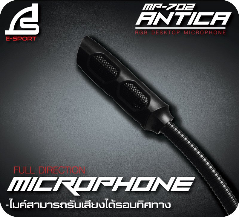 Signo Gaming Desktop Microphone MP-702 Black