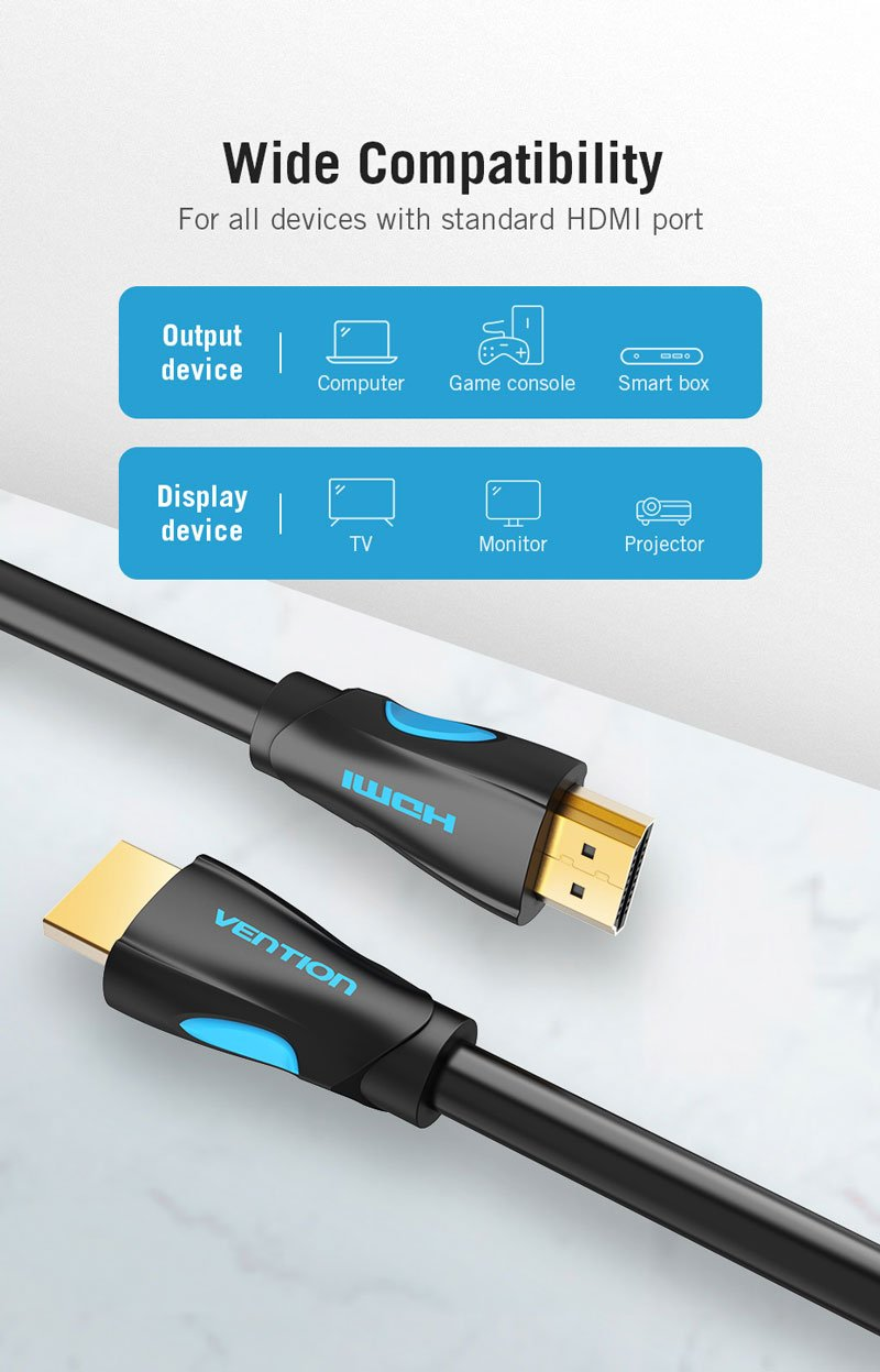 Vention HDMI to HDMI Cable (V.2.0) 1.5M