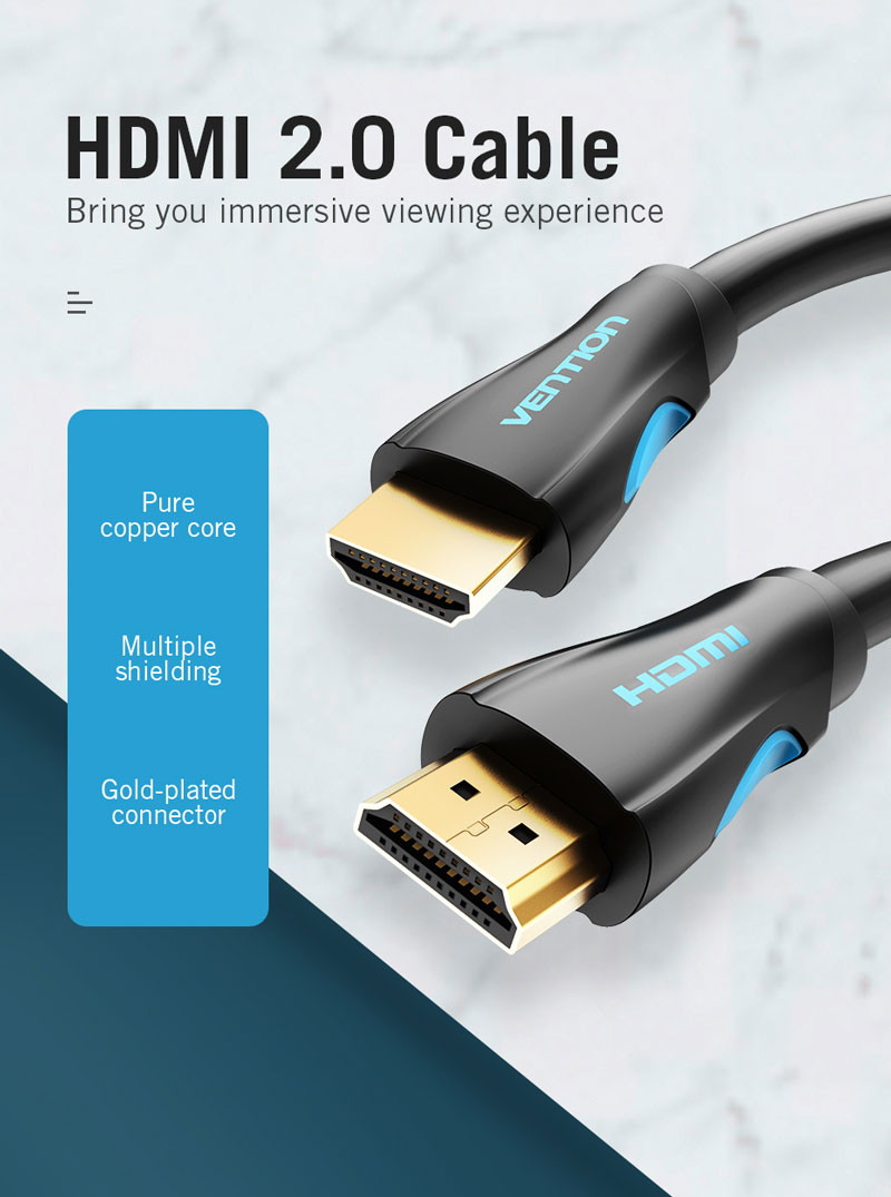 Vention HDMI to HDMI Cable (V.2.0) 5M
