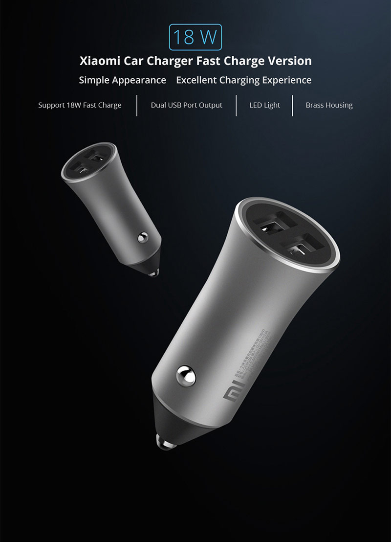 Xiaomi Car Charger Fast Charge Version