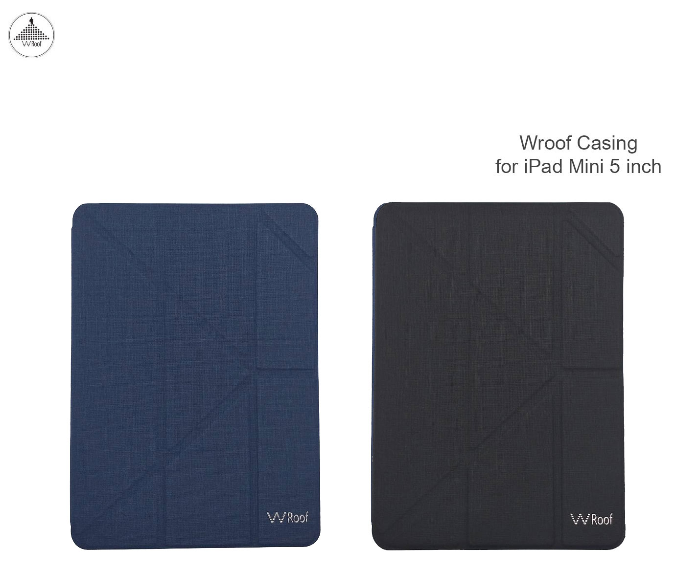Wroof Leather Case with Pencil Socket for iPad Mini 5 Navy