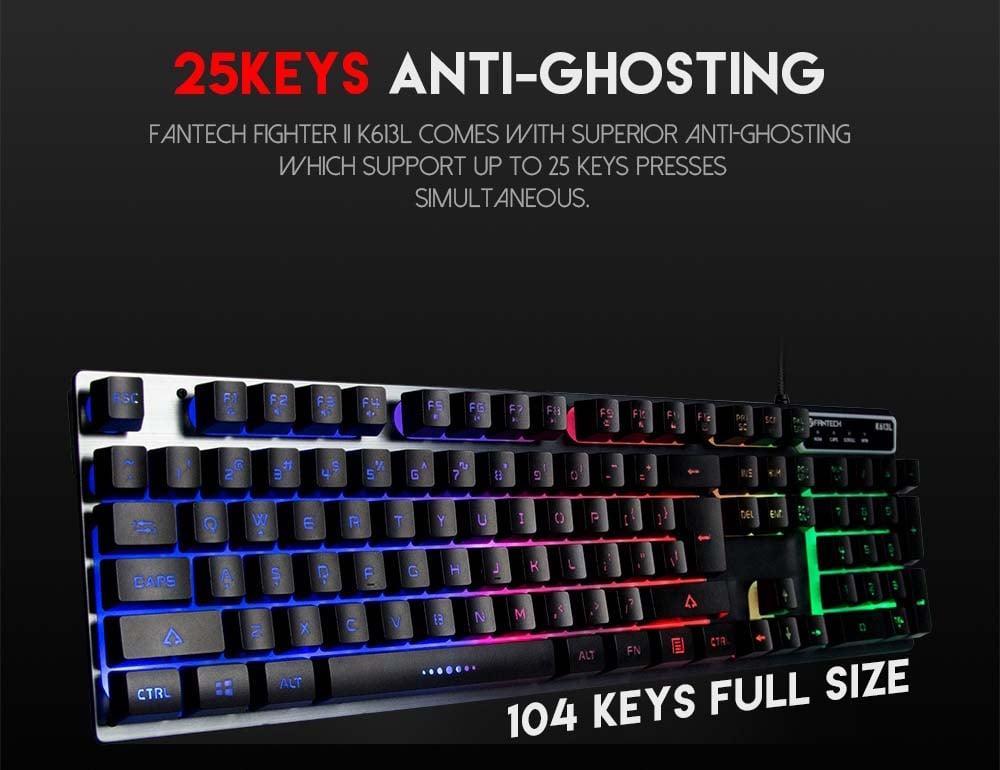 Fantech Gaming Keyboard K613L Fighter II