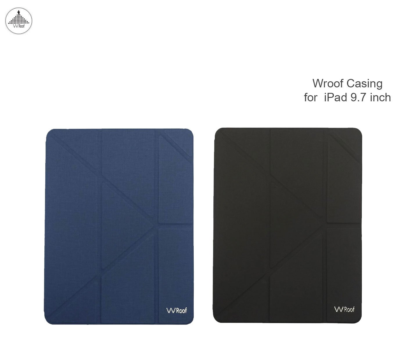 Wroof Leather Case with Pencil Socket for iPad 9.7 inch Navy