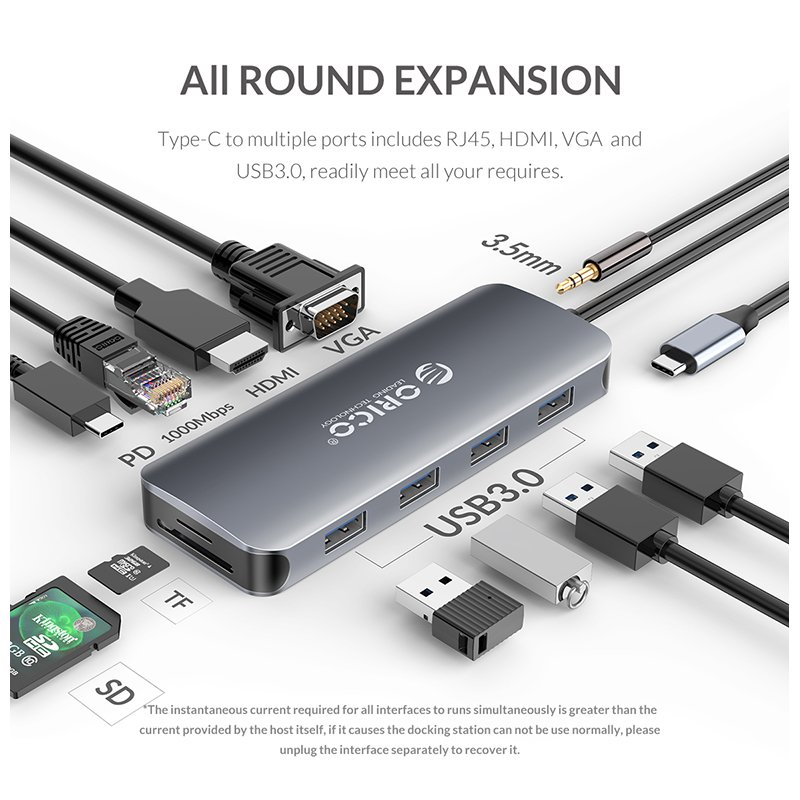 Orico USB3.1 Type-C Adapter Space Gray (MC-U111P)