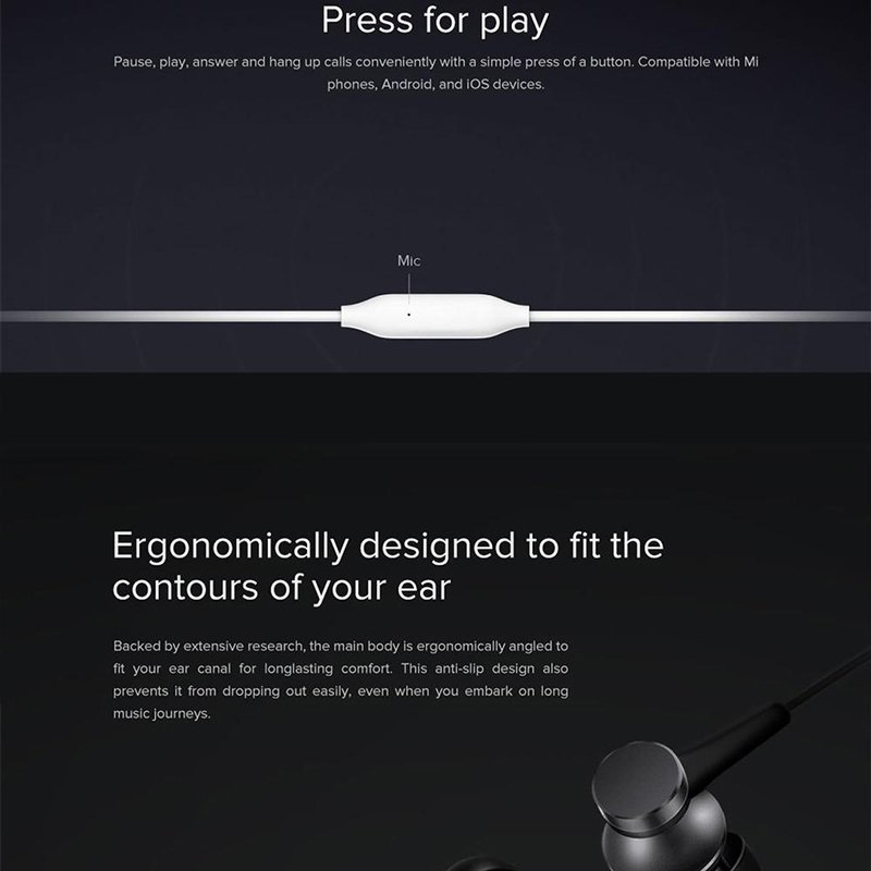 Xiaomi Mi In-Ear Headphones Basic SL White (14274)