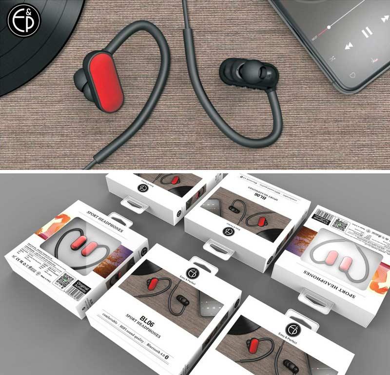 Epenyu In-Ear with Mic. Wireless EPBL06 Black
