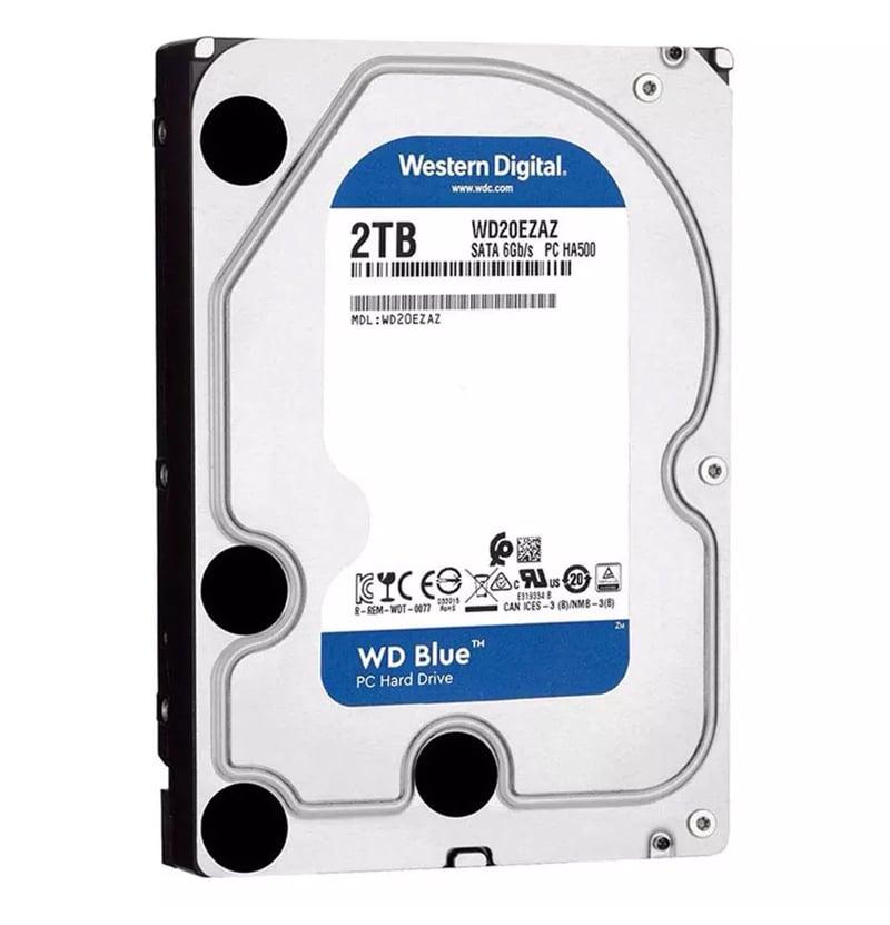 WD HDD 2TB 5400RPM SATA III (6GB/s) 256MB Blue 3 Year