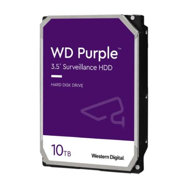 WD HDD PC 10TB 7200RPM SATA III (6GB/s) 256MB For CCTV Purple