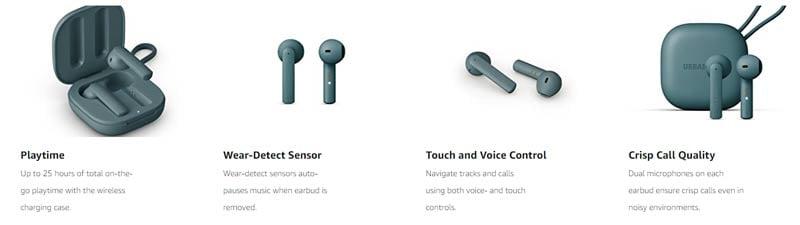 Urbanears Headphone with Mic. Wireless TWS Luma