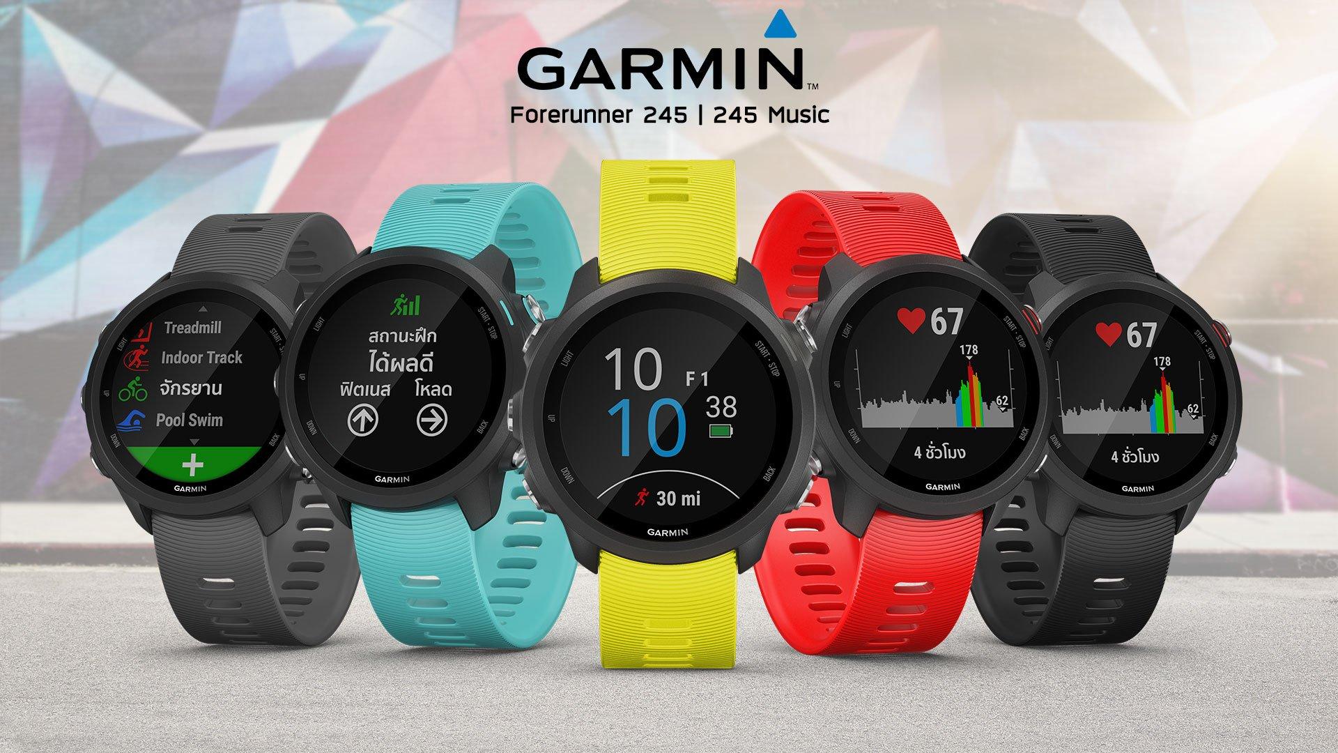 Garmin Smartwatch Forerunner 245 Music Lava Red