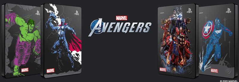 Seagate HDD Ext Game Drive PS4 Marvel Avengers