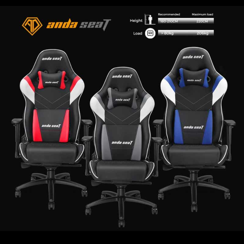 Anda Seat Gaming Chair Assassin King Series Black/White/Red