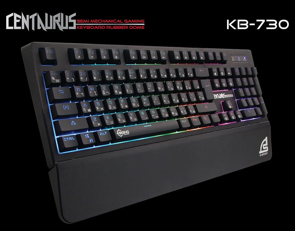 Signo Gaming Keyboard Semi Mechanical CENTAURUS KB-730 Black