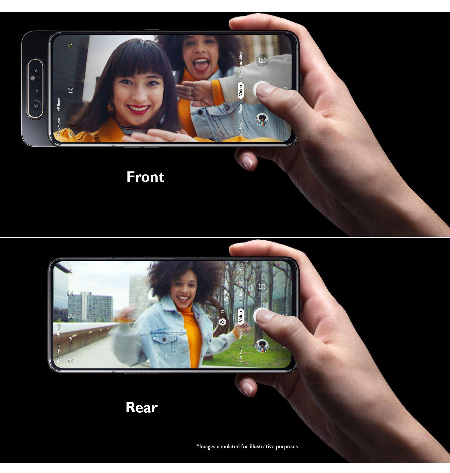 Samsung Smartphone Galaxy A80 Ghost White
