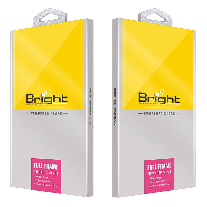 Bright Film Tempered Glass Full Frame for Apple iPhone 12 mini Black