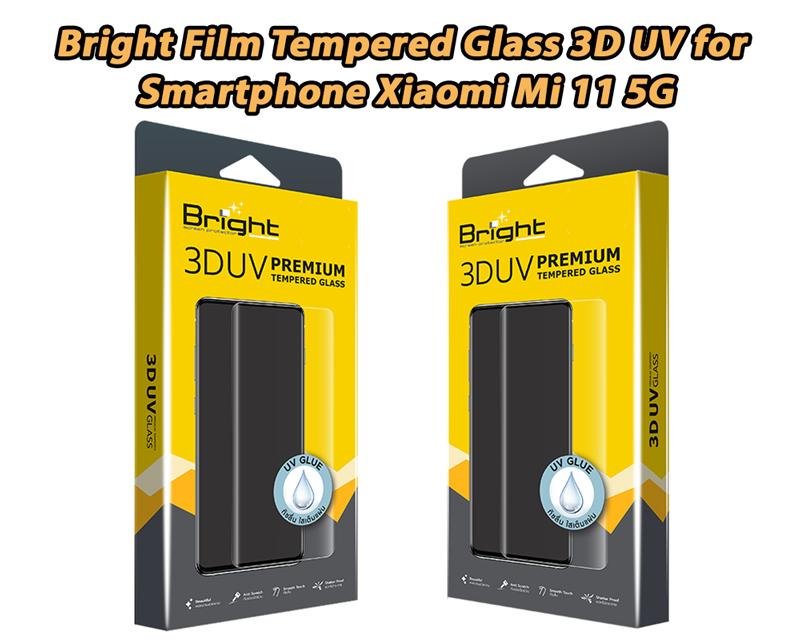Bright Film Tempered Glass 3D UV for Smartphone Xiaomi Mi 11 5G