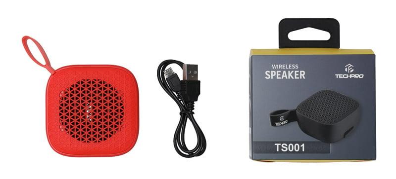 Tech Pro Bluetooth Speaker TS001 Red