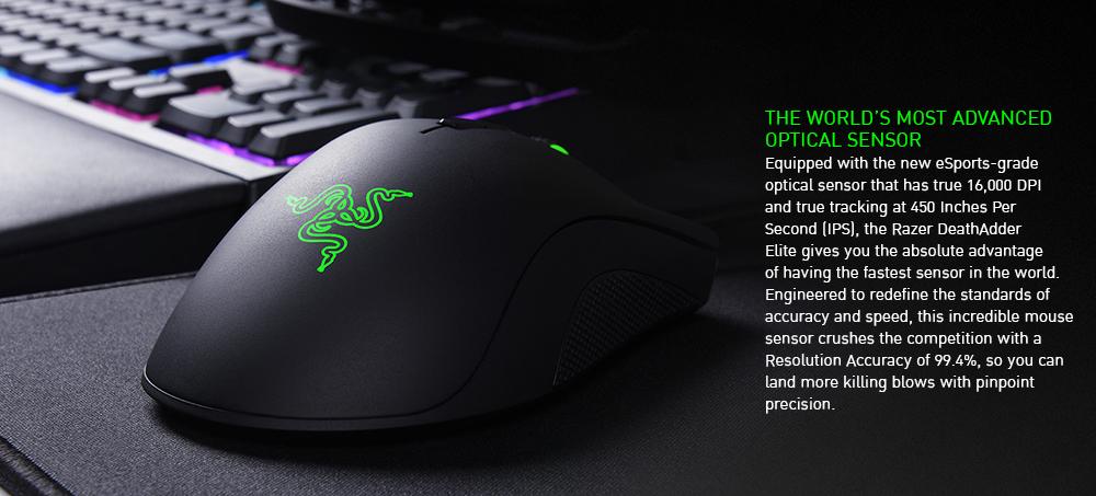 Razer Mouse Gaming Deathadder Elite