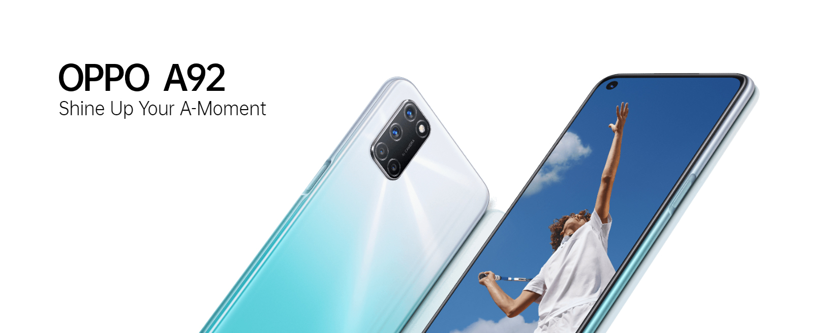 OPPO Smartphone A92 Shining White