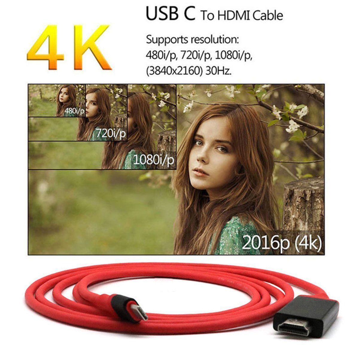 Sino Type-C to HDTV Cable Plug & Play