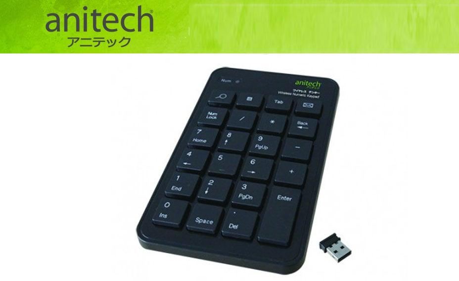 Keypad Retractable Wireless Anitech N181-Black