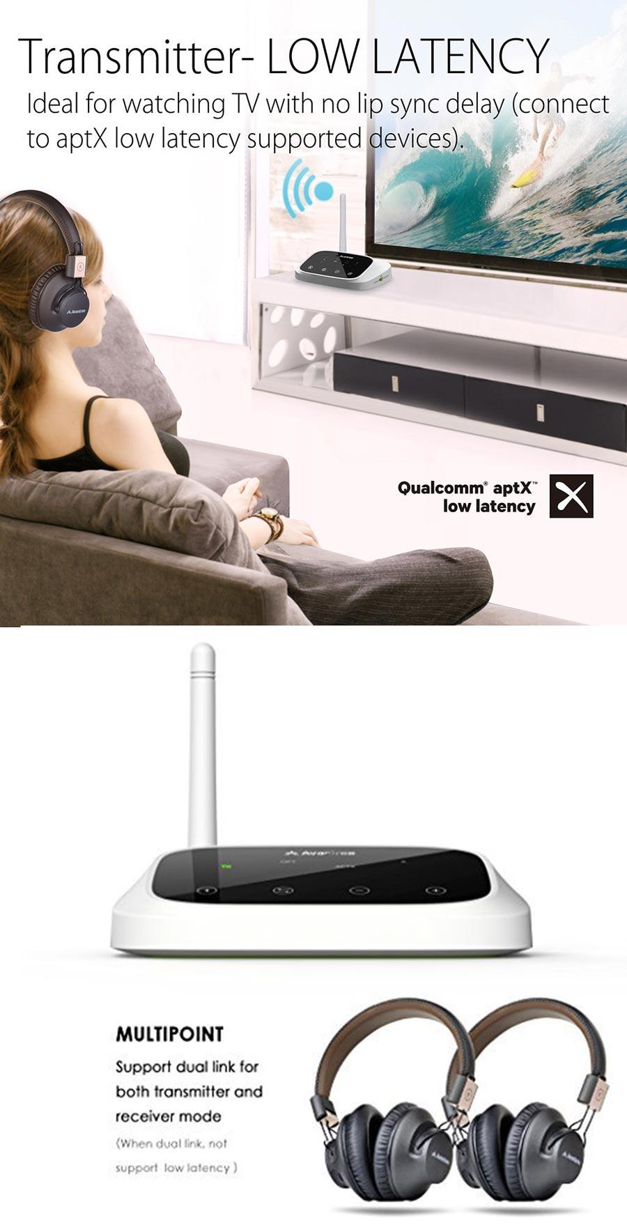 Avantree Long Range Bluetooth Transmittaer & Receiver 2in1 Oasis
