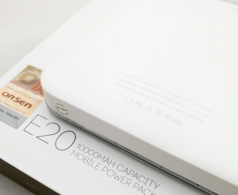 Eloop Power Bank Orsen E20 10000 mAh White