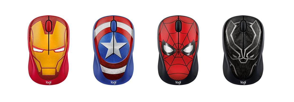 Logitech Mouse Wireless M238 Marvel Collection - Iron Man