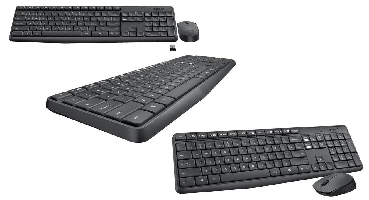 Logitech Wireless Keyboard + Mouse Combo MK235 Black TH