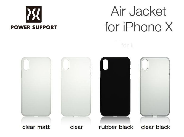 new style 15526 e05bd Power Support Casing for iPhone X Air Jacket Clear