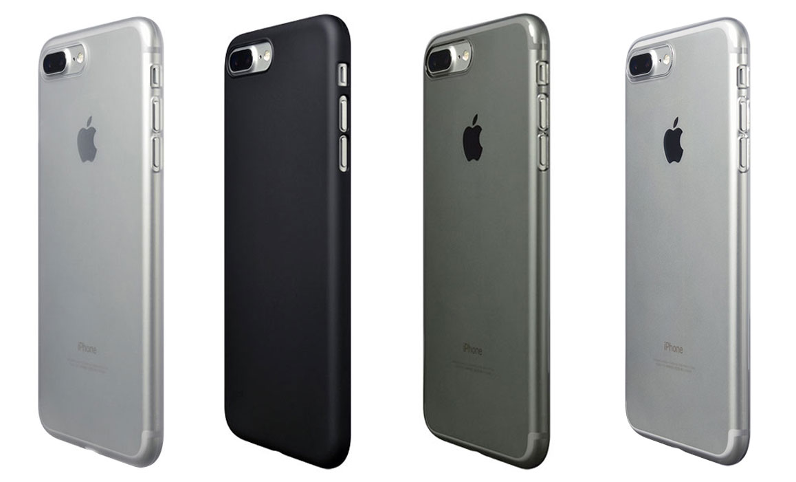 various colors c4ed8 ed3da Power Support Casing for iPhone 8 Plus / 7 Plus Air Jacket Clear Matte