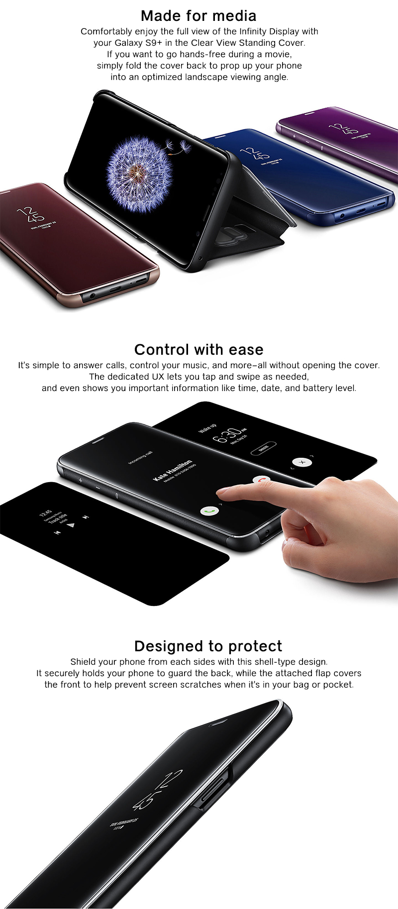 Samsung Accessory Galaxy S9 Plus Clear View Cover