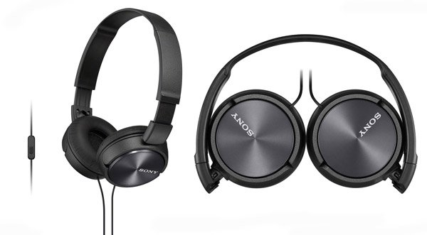 Sony Headphone with Mic. MDR ZX310AP Black